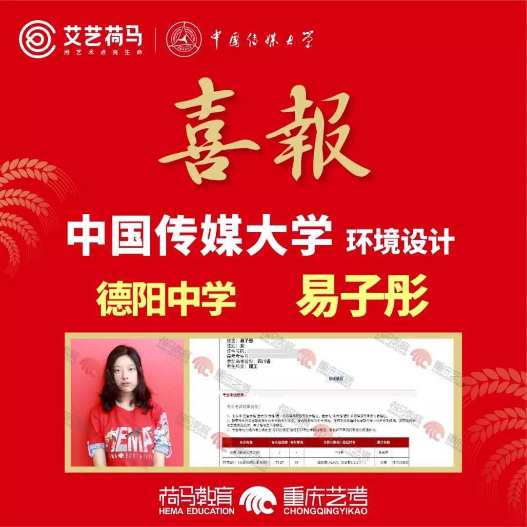 荷马教育中国传媒大学佳绩学员